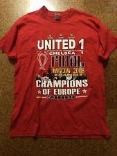 MANCHESTER UNITED CHAMPIONS LEAGUE FINAL 2008 MOSCOW t shirt jersey sz Xl