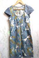 White Stuff Womens Blue Linen Dress With Pockets Size UK 8