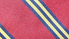 BROOKS BROTHERS MAKERS RED GOLDEN YELLOW STRIPE SILK NECKTIE TIE MJN0717A #E04