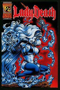 Lady Death Comic ½ NM Plus Red Velvet Edition