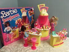 BARBIE SODA SHOPPE PLAYSET W/ BOX MATTEL 1988 VINTAGE EXTRAS WORKING DOLLS
