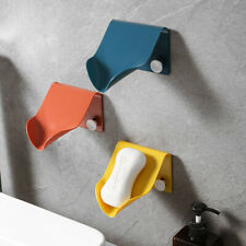 Perforation-free Drain Wall Hanging Soap Dish Holder Bathroom Shower Container