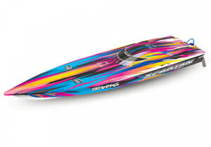 Traxxas Spartan Brushless BL TQi TSM RC BOAT - w/o Battery & Charger PINK