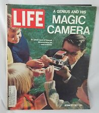 Life Magazine Oct 27 1972 Polaroid Camera Inventor Frances Fitzgerald Gartley
