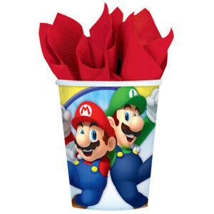 Super Mario Party Cups 8pk 266ml - Super Mario Party Supplies