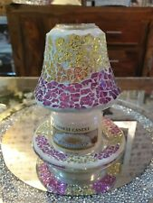 Yankee Candle Purple And Gold Crackle Set