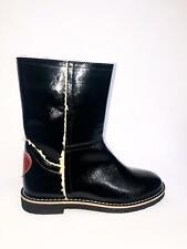 LOVE MOSCHINO scarpe shoes stivale size 39 donna woman pelle nero lucido