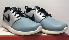 Nike Womens Size 6 Roshe One LX Metallic Silver Black  Blue Running Shoes New