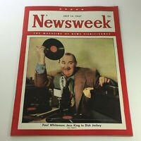 VTG Newsweek Magazine July 14 1947 - Paul Whiteman Jazz King DJ / Newsstand