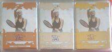 2015 Ultimate Leaf Tennis Base Auto Petra Kvitova Lot of 3 Bronze/Silver/Gold