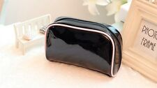 Ysl Black Makeup Cosmetics Bag with pink trim, Brand New!