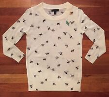 J.Crew Tippi sweater in embellished bee print Sz PXS