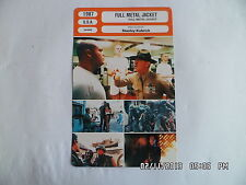 CARTE FICHE CINEMA 1987 FULL METAL JACKET Matthew Modine Adam Baldwin Lee Ermey
