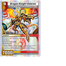 Kaijudo 1X DRAGON KNIGHT VOLARON Super Rare S7/S10 9SHA Shattered Alliances 2013
