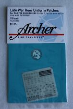 Archer 1/35 Late War Heer Uniform Patches for Panzergrenadiers FG35048B