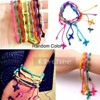 10 Pcs Mix Nylon Knotted Rosary Bracelet Adjustable Random Color Free Shipping