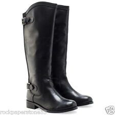 Redfoot Kensington Black Ladies Leather Elasticated Riding Zip Boots UK 6