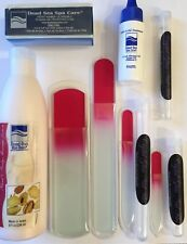 Crystal Glass Nail File Deluxe Set! w/NEW Glass Cuticle Eraser! & Dead Sea Set!