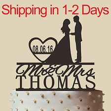 Personalized Silhouette Wedding Cake topper,Acrylic,Wedding Gift,Made in USA 6''