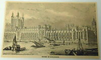 1884 magazine engraving ~ HOUSES OF PARLIAMENT, London, England
