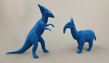 2 Mpc Prehistoric Figures Dark Blue Plastic 1960s Dinosaur Playset Mammal