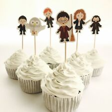12x Harry Potter Cupcake Food Cake TOPPER Party Supplies Lolly Bag Bunting Book