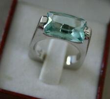 PIANEGONDA -Designer Ring -COSMIC DROPS -Sterling Silber rhodiniert-Aquamarin !!