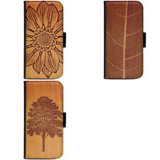 Wood Art Painting Design Phone Wallet Flip Case Cover for HTC Nokia Oppo Xiaomi
