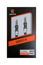 Griffin 3.5mm Audio Aux Cable Male to Male for Speaker /Car /Mobile /Laptop