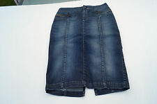 DIESEL Damen Jeans Rock stretch Gr.27 W37 stone wash darkblue defekt NEU