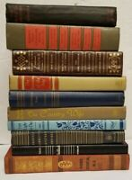 Lot of 10 Vintage Old Antique Hardcover Books - Mixed Color/Year/Genre