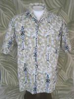 PACIFIC SCENE men Hawaiian ALOHA shirt L pit to pit 24.5 cotton tiki bar luau