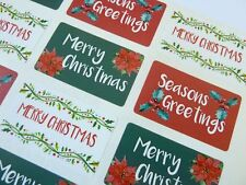 Merry Happy Christmas Stickers Labels for Cards Envelopes & Festive Craft X50303