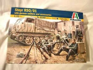 1/35 Italeri German Steyr RSO / O1 Battle Tractor w/7 Soldiers & Equipment #7549