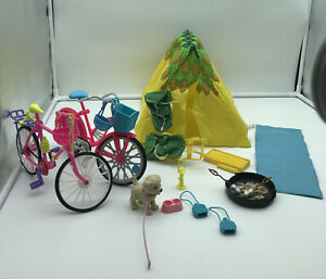 1970's & 2000's BARBIE CAMPING TENT BACKPACKS & BIKES +MORE