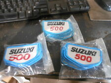 Vintage NOS Suzuki 500 Motorcycle Motocross Embroidered Patches QTY2