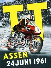1961 Dutch TT Assen 36th Anniversary Poster Print Image ca 8 x 10 print poster