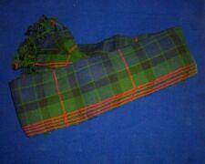 Scottish | Gunn Tartan pleated Piper's Long Plaid | 3 1/2 y | Geoffrey