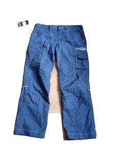 """Fristads Workwear Trousers Navy Blue 36"""" Waist Tall Leg 32"""" multipocket"""
