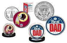 Best Dad - WASHINGTON REDSKINS 2-Coin Set Quarter & JFK Half Dollar NFL LICENSED