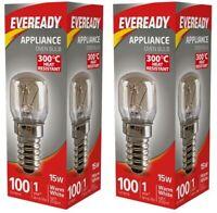 2x Eveready 300°C Cooker Oven Appliance Lamp Bulb 15W 240V SES Base (E14)