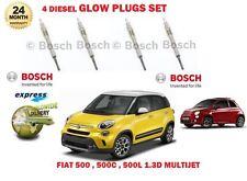 Pour Fiat 500 500 C 500 L 1.3D multiflamme 2009 -- > Nouveau Diesel Bougies De Préchauffage Set (4)