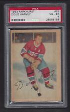 1953 Parkhurst #26 Doug Harvey, HOF, PSA 4 VG-EX, Vintage Canadiens NHL 1953-54