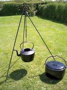 Camp Fire Camping Cooking Tripod Dutch Oven Bush Craft Reenactment Camp
