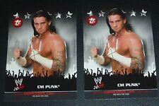 CM Punk WWE 2009 Topps Town Trading Code Card #TT5 Pro Wrestling Wrestlemania