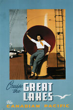 CRUISE THE GREAT LAKES Vintage Travel Poster Canadian Pacific 1947 24X36 NEW