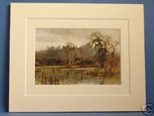 WARWICK GUYS CLIFF WARWICKSHIRE MOUNTED 1913 PRINT OLD