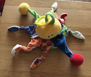 K's Kids Little Octopus Sensory Plush activity toy Tactile Baby Squeak