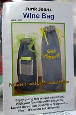 JUNK JEANS - WINE BAG - Sewing Pattern to UPCYCLE Old Denim