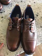 Steve Madden Men Dress Shoes P-Lesco Brown Leather size 8.5M- Terrific!!